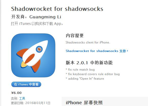 iOS最强科学上网方式、Surge替代品——Shadowrocket + Shadowsocks
